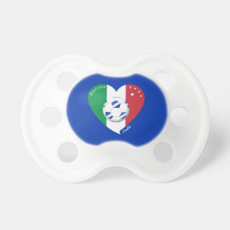 2014 world-wide SOCCER of ITALY flag and blue ball Pacifier