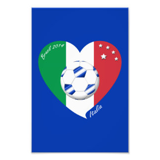 2014 world-wide SOCCER of ITALY flag and blue ball Photograph