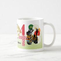 2014 Yawata Red and Black Yawata Horses Mug