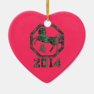 2014 Year of the Horse in Chinese Astrology Christmas Tree Ornaments