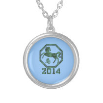 2014 Year of the Horse in Chinese Astrology Silver Plated Necklace
