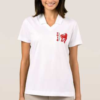 2014 Year of The Horse Papercut Polo Shirt