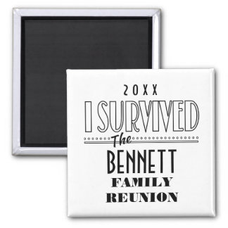 2015-16 DATED FUNNY FAMILY REUNION SQUARE ONLY 2 INCH SQUARE MAGNET