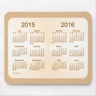 2015-2016 calendario del moreno de Sun del año Tapete De Raton