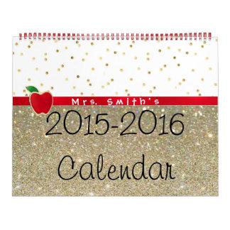 2015-2016 calendario grande de la sala de clase