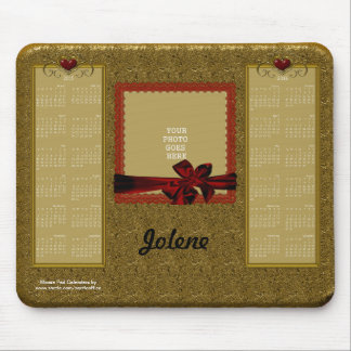 2015-2016 ORO del cojín de ratón del calendario co Tapete De Raton