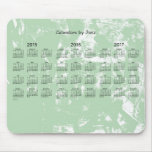 2015-2017 3 Year Calendar by Janz Old Green Paint Mouse Pad