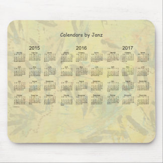 2015-2017 Yellow Calendar by Janz Old Paint MPad Mouse Pad