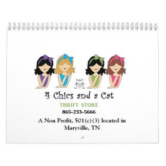 2015 4 Chics and a Cat Calendar
