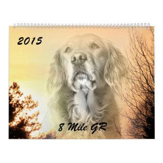2015 8 golden retriever Caledar de la milla Calendarios
