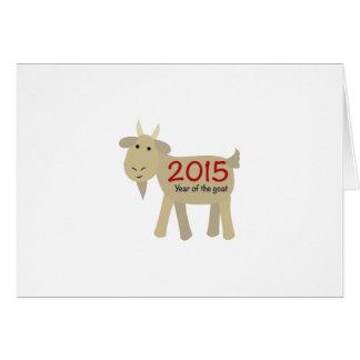 2015 años de la cabra tarjeta pequeña