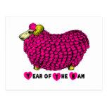 2015 años de las ovejas o de la cabra - postal del