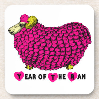 2015 años de las ovejas o de la cabra - práctico posavasos de bebidas