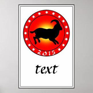 2015 años del espolón/de las ovejas/de la cabra póster