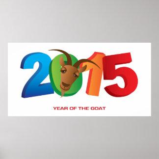 2015 Años Nuevos chinos del poster de la cabra