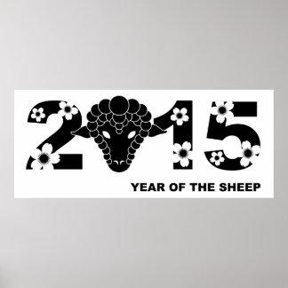2015 Años Nuevos chinos del poster de las ovejas
