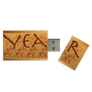2015 Años Nuevos vietnamitas de la cabra USB Pen Drive De Madera USB 2.0