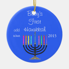 2015 Baby's First  Hanukkah Ornament at Zazzle
