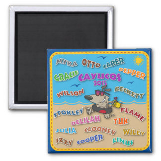 2015 Beach Names Magnet 2 Inch Square Magnet