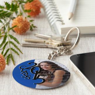 2015 Blue Graduation Keepsake Basic Round Button Keychain