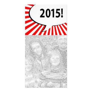 ¡2015! burbuja cómica tarjeta fotográfica personalizada