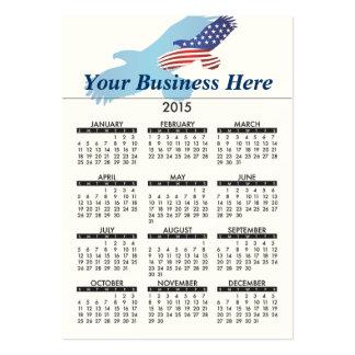2015 Business Card Calendar American Eagle