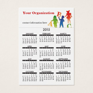 2015 Business Card Calendar Daycare