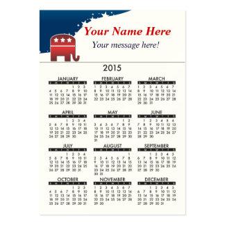 2015 Business Card Calendar Elephant Republican