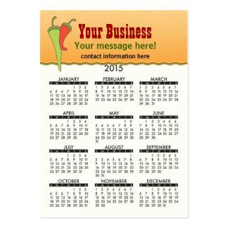 2015 Business Card Calendar Mexicine Cuisine