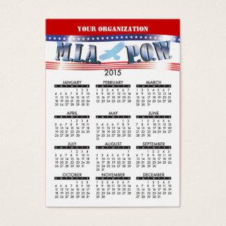 2015 Business Card Calendar MIA POW