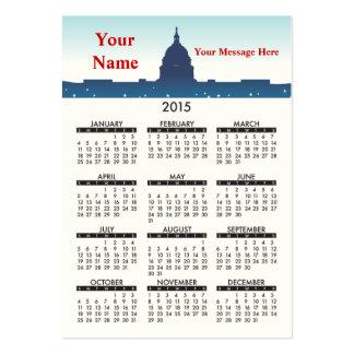 2015 Business Card Calendar National Monuments