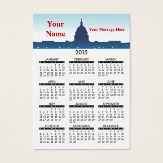 2015 Business Card Calendar National Monuments