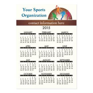 2015 Business Card Calendar School Athletics