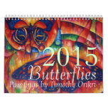 2015 Butterfly Calendar by Timothy Orikri