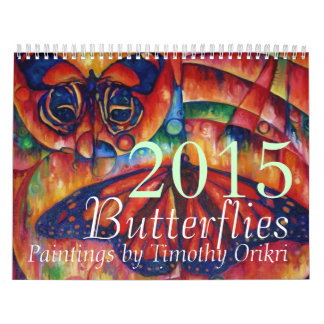 2015 Butterfly Calendar by Timothy Orikri