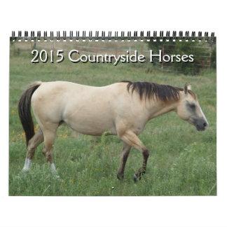 2015 caballos del campo del calendario