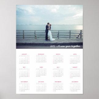 2015 Calendar : A new year together! Print