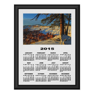 2015 Calendar Amazing View at Bryce Canyon Poster