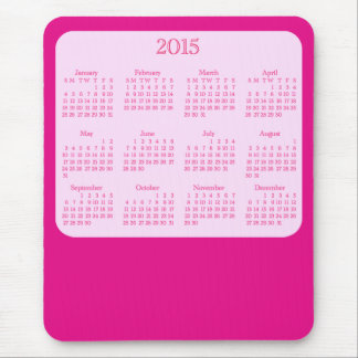 2015 Calendar Antique Pink Mouse Pad