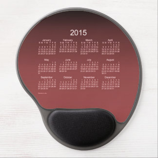2015 Calendar by Janz Gradient Red Gel Mousepad Gel Mouse Pad