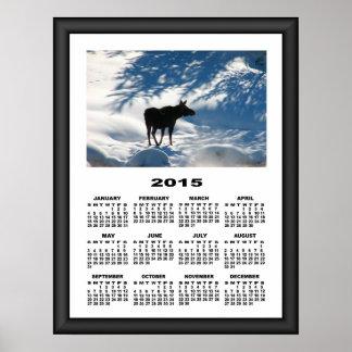 2015 Calendar Lost Moose Graphically Framed Poster