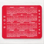 2015 Calendar Mousepad Red