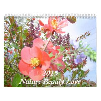 2015 calendar Nature flowers animals