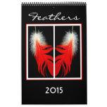 2015 Calendar of Bird feathers