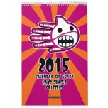 Hand shaped 2015 Calendar of Scary Hand Shaped Critters