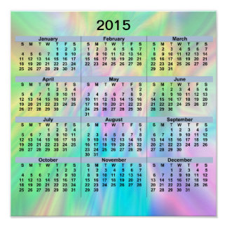 2015 Calendar Pastel Poster