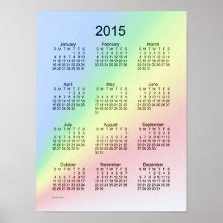 2015 Calendar Rainbow Poster
