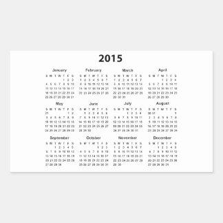 2015 Calendar Rectangular Sticker
