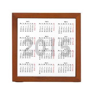 2015 calendar template desk organizer