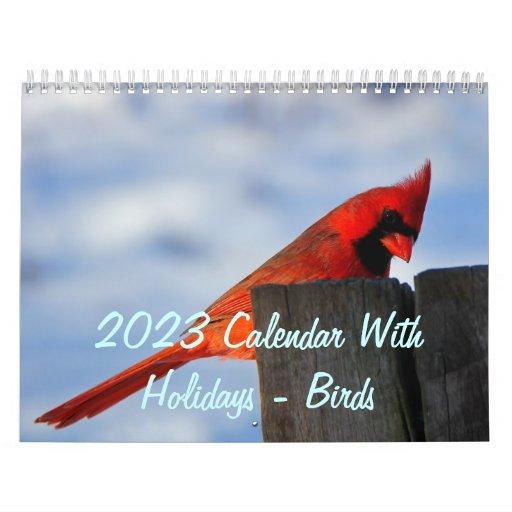 2015 calendario con días de fiesta - pájaros